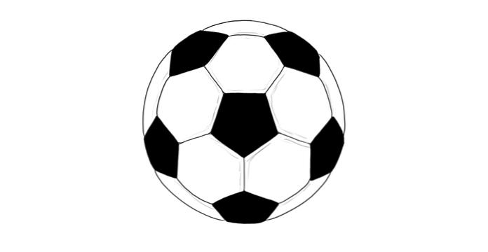 fußball zeichnen leicht