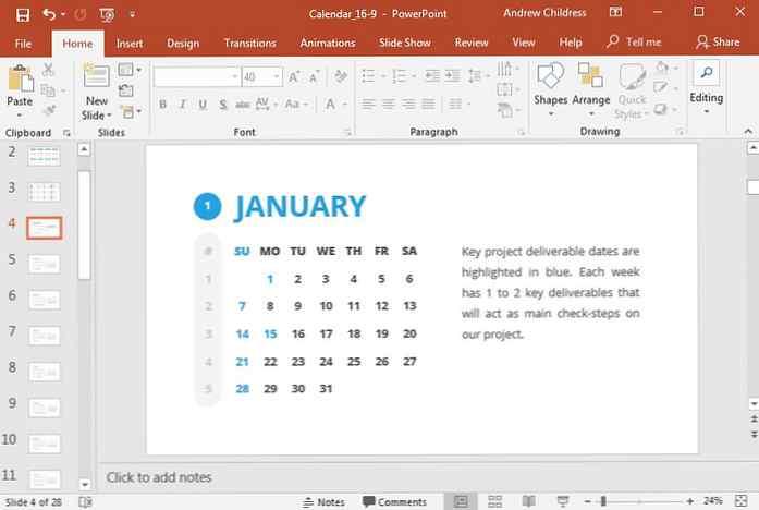 Calendario Mensile 2021 Powerpoint Come inserire rapidamente un calendario in PowerPoint con i