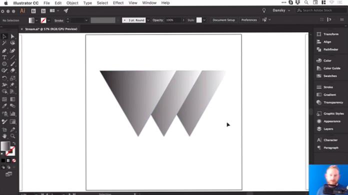Cómo Diseñar Logotipos Basados En Gradientes En Adobe Illustrator Diseño E Ilustración Desarrollo De Sitios Web Juegos De Ordenador Y Aplicaciones Móviles