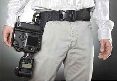OP//TECH Imbracatura doppia in neoprene per Cinghia trasporta 2 telecamere in stile per Cinghia-Nero