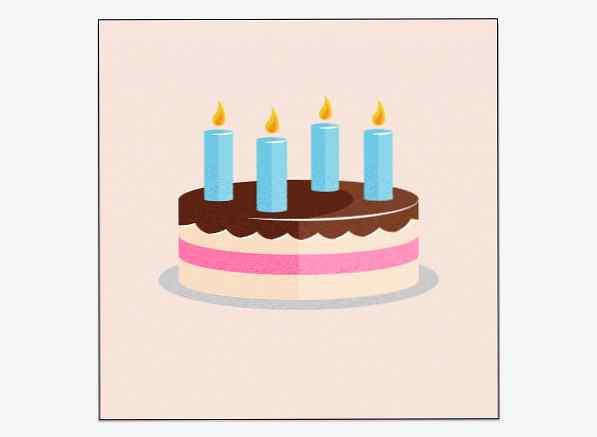 Torta Compleanno Stilizzata.Suggerimento Rapido Crea Una Torta Di Compleanno Stilizzata Di Ispirazione Retro Design E Illustrazione Sviluppo Di Siti Web Giochi Per Computer E Applicazioni Mobili