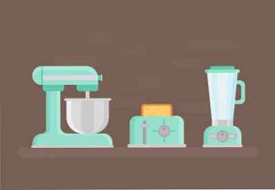 Come progettare un set di oggetti da cucina retrò in ...