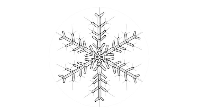 Comment Dessiner Un Flocon De Neige Design Et Illustration Developpement De Sites Web Jeux Informatiques Et Applications Mobiles