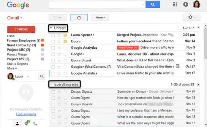 Gmail mesaje primite